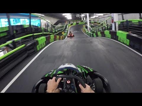 Racing electric go karts at 35 mph! | andretti indoor kart & games orlando