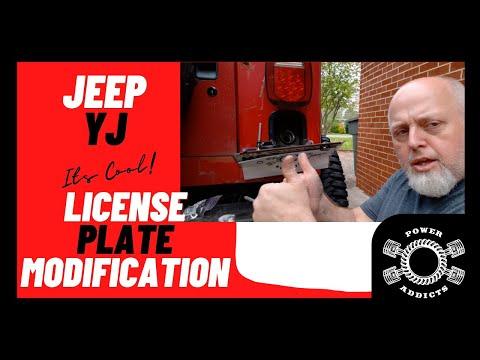 Jeep yj license plate gas fill modification #poweraddictscrew #jeeplife #jeepfuelmod #jeepyj