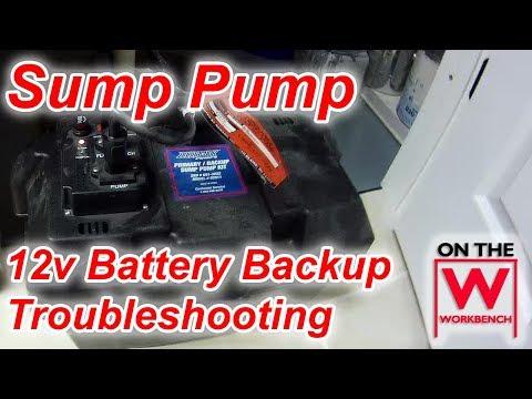 12v backup sump pump troubleshooting