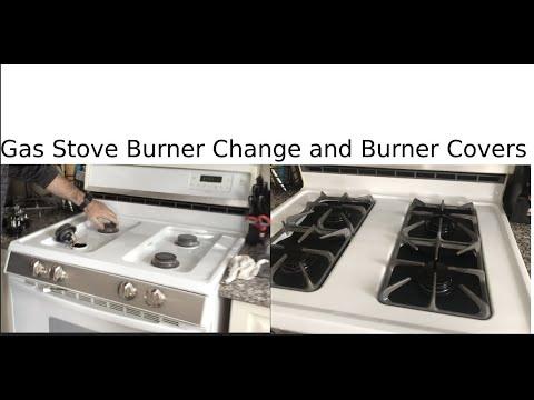Gas stove burner change and burner covers