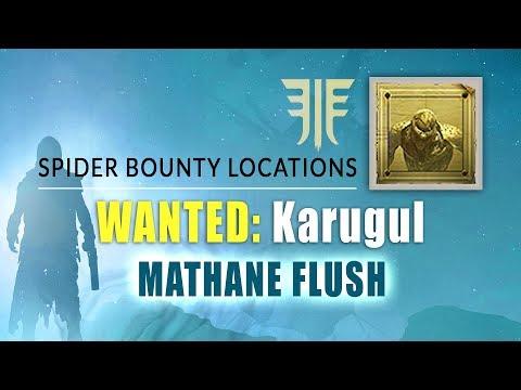 "Karugul bounty location in ""methane flush"" | destiny 2 forsaken - spider bounty locations"