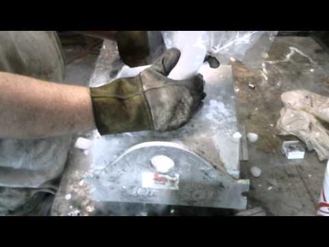 Welding gas tank-dry ice trick