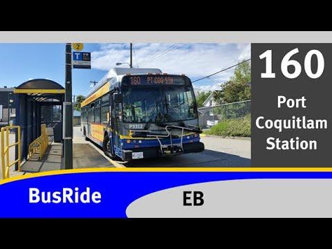 Translink (cmbc): new flyer c40lfr 3312 - 160 pt coq stn - busride [full route]