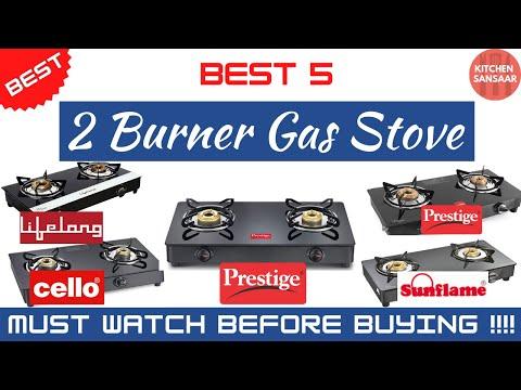 Best 2 burner gas stove in india 2021 || glass top || review || @kitchen sansaar