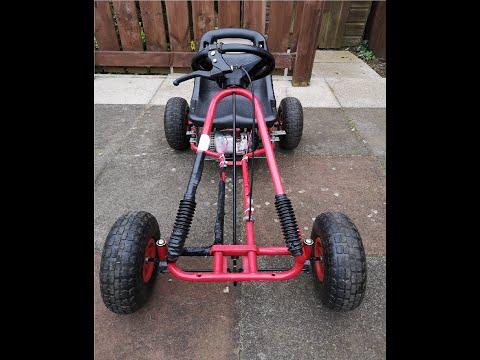 49cc homemade go kart walkround and startup