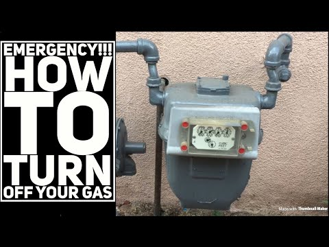 How to turn off gas meter in case of emergency